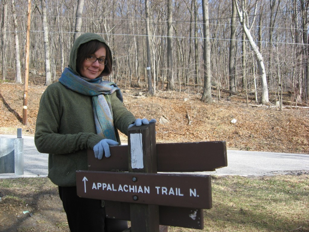 Isabelle eagerly awaits the hike on the internationally renowned Appalachian Trail
