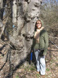 Isabelle Dijols with Red Maple, Bocce Woods, Cobbs Creek Park, West Philadelphia