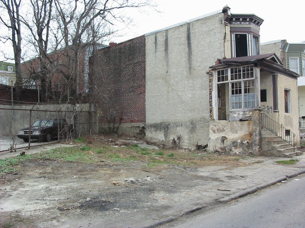The site of the future vegetable garden of the Sanguine Root, Viola Street Philadelphia