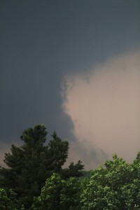 Funnel Cloud at 5 pm  by Brian Solomon.  Monson Massachusetts