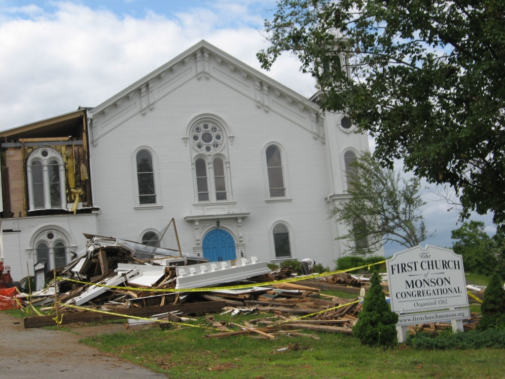The Aftermath of the June 2011 tornado,  Monson Massachusetts