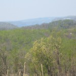 The lower Susquehanna River valley overlooking Shenks Ferry Wildflower Preserve