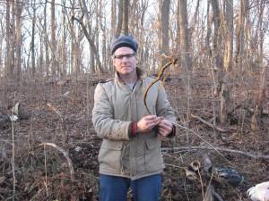 Sean Solomon removes Tree-of-Heaven, Morris Park, Philadelphia