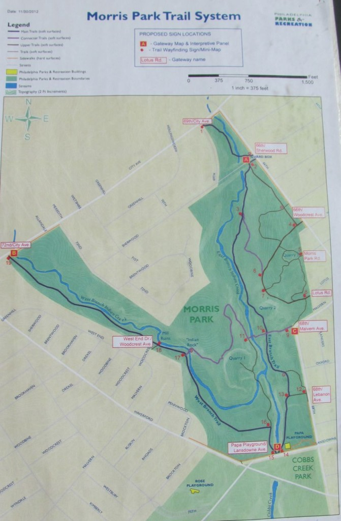 Morris Park, Philadelphia Trail map