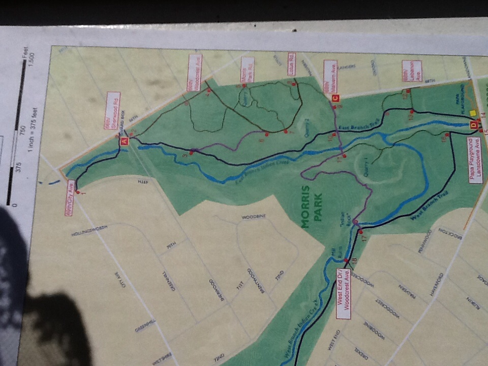 Trail map, Morris Park, Philadelphia