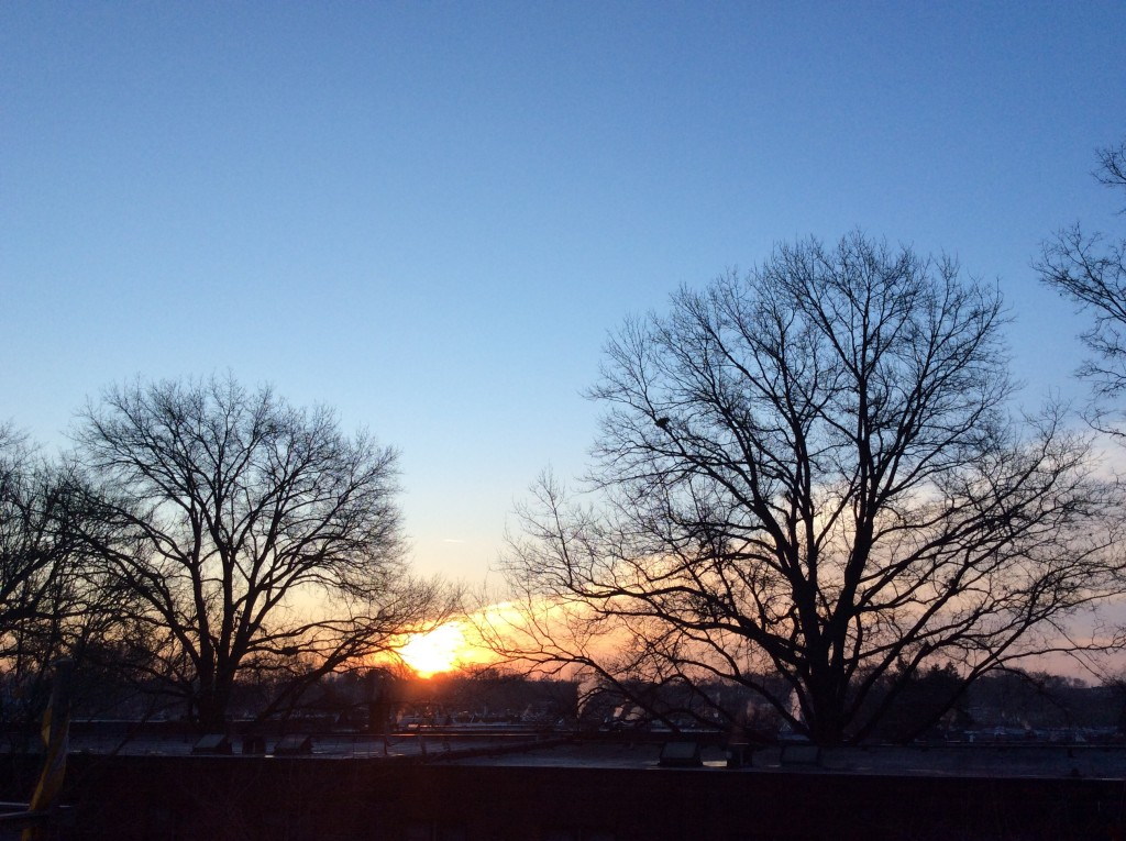 Sunrise in Overbrook, Philadelphia